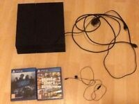 Ps4 with 1 controller, headset, GTA 5 and need for speed