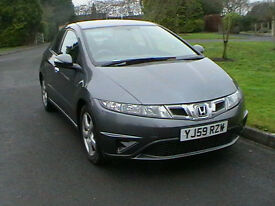 59 REG HONDA CIVIC 1.4i-VTEC SE 5 DOOR HATCHBACK IN SILVER HPI CLEAR WARRANTY