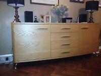 Designer sideboard (solid oak) in beautiful condition