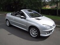 Peugeot 206cc Convertible. Just 63,635 miles. Superb Condition. New M.O.T Upon Sale. PX Possible