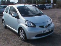 TOYOTA AYGO+ VVT I 1.0 3 DR BLUE 1 YRS MOT,CLICK ON VIDEO LINK TO SEE AND HEAR MORE ABOUT THIS CAR