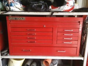 Large Gray 9 drawer tool chest.