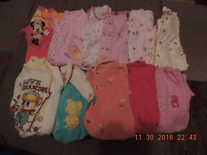 Girl's Size 0-3months Sleepers/Onesies & Footless Sleepers