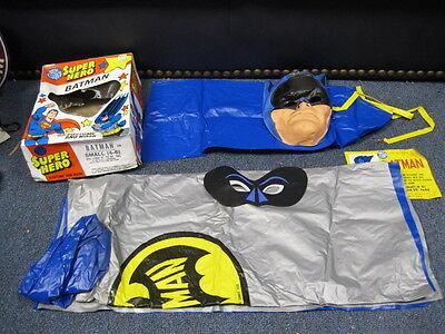 Vintage Batman costume Cape Mask with Original Box Ben Cooper ?
