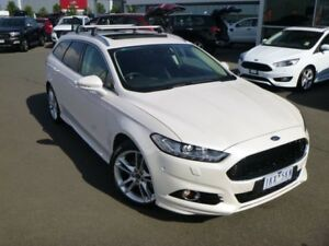 2017 Ford Mondeo MD 2017.50MY Titanium PwrShift White 6 Speed Sports Automatic Dual Clutch Wagon