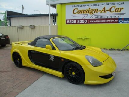 2000 Toyota Mr2 ZZW30R Spyder Yellow 5 Speed Sequential Manual Convertible