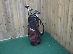 Men's Right Hand Golf sets Deep Red Wilson