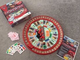 Nearly New Kids Game Disney Cars 2 Monopoly