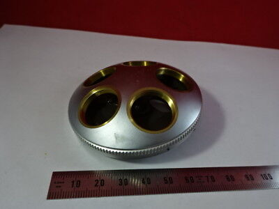 Leitz Wetzlar Germany Sm-lux Brass Nosepiece Microscope Part As Is Aj-a-06