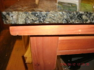 """2 Solid Wood Framed Tables with Real Marble Top (1""""thick)"""