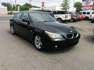2006 BMW 5 Series 525i, AUTO, CUIR, TOIT, A/C, ONLY 92500 KM