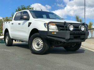 2012 Ford Ranger PX XL Double Cab White 6 Speed Sports Automatic Utility Chevallum Maroochydore Area Preview