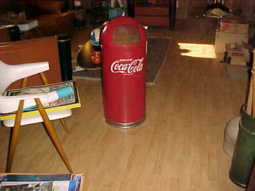 TORPEDO  Coca Cola  TRASH CAN -  ONE PIECE  -  UNITED CABINET MAKERS  POTTSVILLE