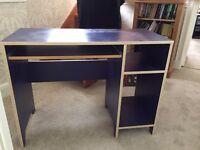 Blue Ikea desk. Excellent condition.