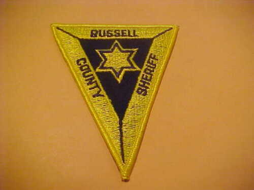 RUSSELL COUNTY KANSAS POLICE PATCH SHOULDER SIZE UNUSED TYPE 1