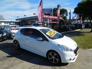 2013 Peugeot 208 GTi White 6 Speed Manual Hatchback New Lambton Newcastle Area Preview