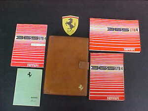 Ferrari-365-Owners-Manual-Pouch-Parts-Book-Dealer-Directory-GTB-4-Daytona-OEM