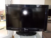 "Panasonic TX-L26C10B LCD TV 26"" screen in black 2 HDMI inputs 2 scart inputs with text. Like new."