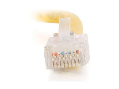 C2G 24511 7 ft. Cat 5E (Crossover) Yellow Cat5E Crossover Patch Cable, used for sale  Richmond Hill