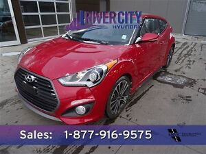 2016 Hyundai Veloster TURBO Navigation (GPS),  Leather,  Heated