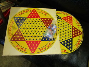 1950s s-121 round metal chinese checkers board original box