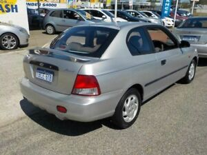 2002 Hyundai Accent LC Silver 5 Speed Manual Hatchback