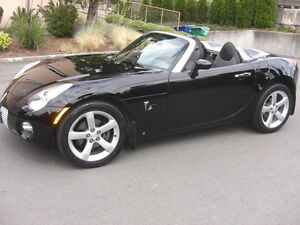 Beautiful Black 2007 Pontiac Solstice Convertible