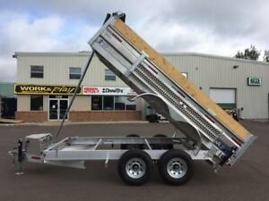 "NEW 2018 THOR 80"" x 14' HD ALUMINUM DUMP TRAILER"