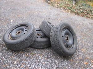Michelin X-Ice snow tires on rims for sale