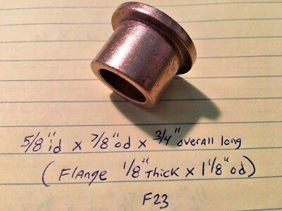 Oilite Flange Bushing Bronze 58 Id X 78 X 34 Brass Bush Shim Spacer Bearing