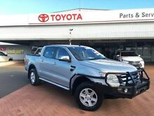 2014 Ford Ranger PX XLT 3.2 (4x4) Silver 6 Speed Automatic Dual Cab Utility Dubbo Dubbo Area Preview