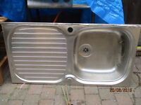 stainless kitchen sink with combi taps