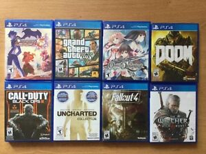 Ps4 GTA V- Witcher 3 - Fallout - Black Ops- Uncharted...40$ ch