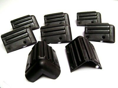 Eight (8) Black Plastic Speaker Box Corners 3""