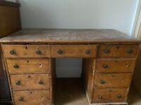Old-fashioned wooden desk