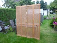 Pair of lattice bifold doors