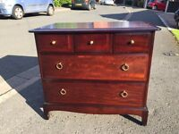 Stag five drawer chest of drawers in very good condition
