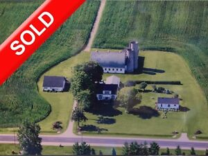 SOLD Large Acreage & Farmstead w 2 Homes Barn & Shed in Malahide