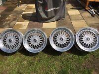 audi tt, bora, golf etc BBS style alloy wheels