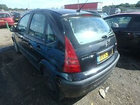 BREAKING CITROEN C3 LX 71k 5 DOOR 2003 53 1.4 BLACK PETROL MANUAL