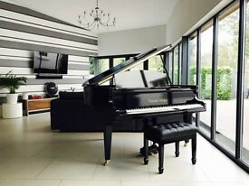 TESORO NERO - BLACK HIGH GLOSS BABY GRAND PIANO