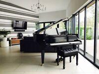 TESORO NERO - BLACK HIGH GLOSS BABY GRAND PIANO.