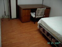 one apartment unit (with private washeoom) is available