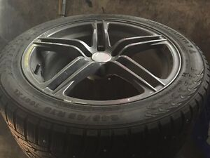 245 45R18 snow tires with rims