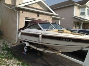 bowrider boat project, 2 motors, trailer + some materials