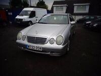 2000(Wreg)Mercedes E240 Saloon AUTOMATIC MOT'd 22/4/17 115,000 Miles £395