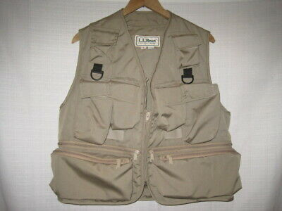1a60e205f51d9 LL Bean Fly Fishing Vest men's S tan NWOT NEW Made in USA trout salmon