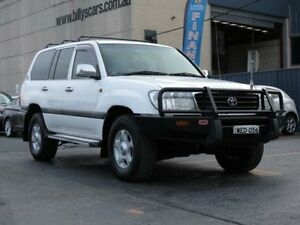 2002 Toyota Landcruiser HDJ100R GXL (4x4) White 4 Speed Automatic 4x4 Wagon Condell Park Bankstown Area Preview