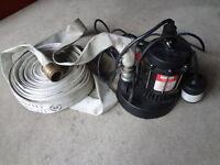 Sump Pump with Fire Hose