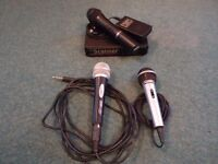 lot of Microphones and Scanner wireless receiver & transmitter